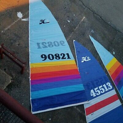$899.95 • Buy Hobie 16 2 Main Sails & 1 Jib Used Pick Up ONLY