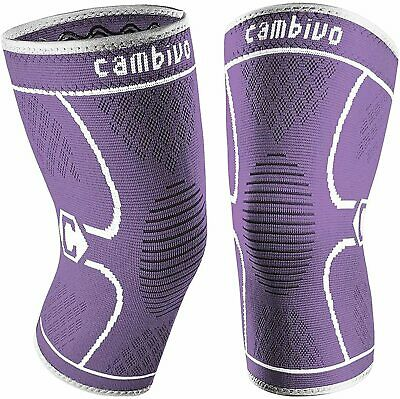 $9.99 • Buy CAMBIVO 2 Pack Knee Brace, Knee Compression Sleeve Support For, Purple, Size