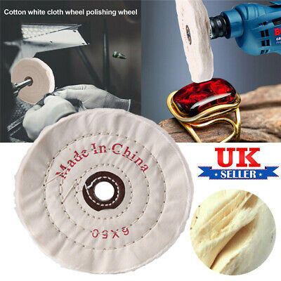 £5.69 • Buy 150mm 6  Polishing Mop Buffing Wheel For Drill Bench Grinder Stitched Cotton UK
