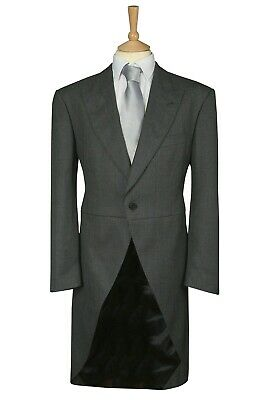$27.78 • Buy Mens 34  Mid Grey Wool Blend Ex Hire Tailcoat Wedding Morning Dress Suit Tails