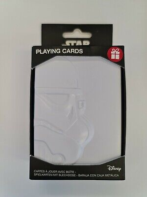 £5.99 • Buy Star Wars Playing Cards With Stormtrooper Embosed Storage Tin Official Disney
