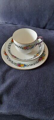 £4.50 • Buy Crown Staffordshire Trio. Cup, Saucer & Plate. Beautiful Design. V.G Condition.