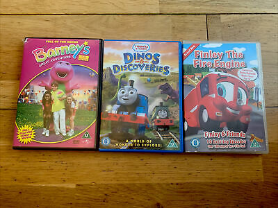 £0.99 • Buy 3 X Kids Dvd Barney, Thomas The Tank And Finley The Fire Engine
