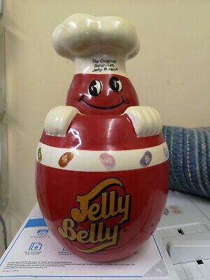 £14.95 • Buy ++ Mr. Jelly Belly Red Ceramic Retro Jelly Bean Jar / Container *rare* ++