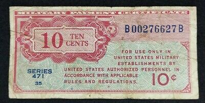 $7.50 • Buy 10 Cents Military Payment Certificate Series  471