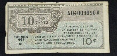 $5 • Buy 10 Cents Military Payment Certificate Series  461