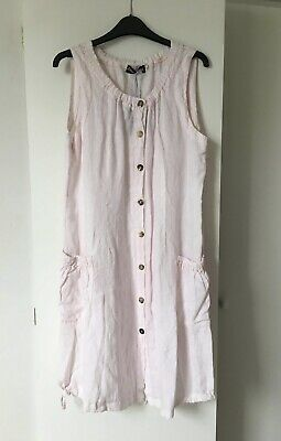 £5 • Buy LADIES EDEN ROCK (MADE IN ITALY) PALE PINK SUMMER DRESS - 12/14 Size 2 - NEW