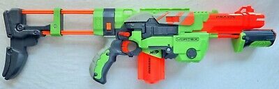 £14.95 • Buy NERF Gun Vortex Praxis Pump Action Disc Shooter With Stock And Mag - Free Post