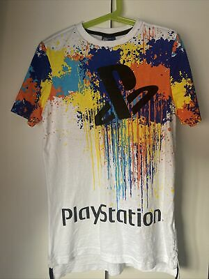 £0.99 • Buy Boys Paint Splattered Play Station T Shirt Size 10-11 Years