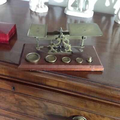 £35 • Buy Antique Vintage Post Office Letter Scales Complete With Weights  Vgc