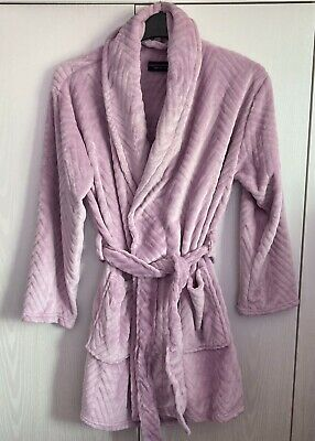 £24 • Buy New With Tags Dorothy Perkins Heather Velour Dressing Gown / Bath Robe Size Xs