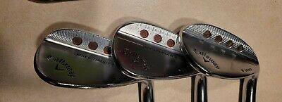 $150 • Buy Set Of Callaway Mack Daddy 4 Right-Handed Wedges - Satin Chrome