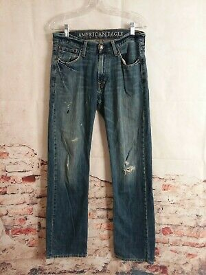 $12.95 • Buy American Eagle Original Straight Mens Jeans 30x34 Distressed