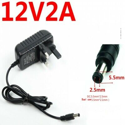 £5.59 • Buy 12V 2A AC/DC UK Power Supply Adapter Safety Charger For LED Strip CCTV Camera