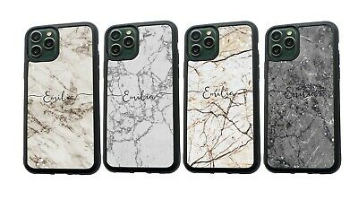 AU11.99 • Buy PERSONALISED Any Name Marble Silicone Phone Case For IPhone XS MAX 11 12 Pro Max