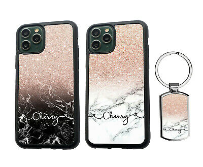 AU13.99 • Buy PERSONALISED Name Marble Silicone Case IPhone SE XS MAX 11 12 Pro Max + Keyring
