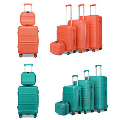 £29.97 • Buy Hard Shell Cabin Travel 4 Wheels Luggage Set Suitcase ABS Lightweight Trolley