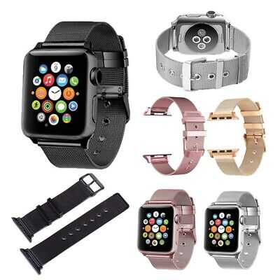 AU9.99 • Buy Apple Watch Series 2/3/4/5/6 Milanese Stainless Steel  Band Strap 38 40 42 44mm