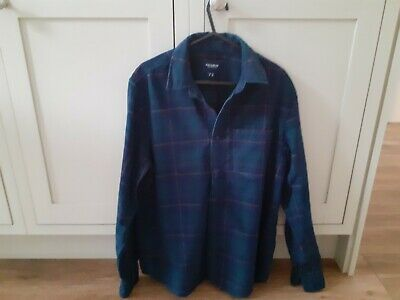 £1.70 • Buy Pull And Bear, Mens, Small, Navy Checked, Cotton Corduroy  Shirt.