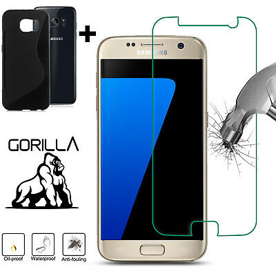 £1.99 • Buy Genuine Temperd Glass Screen Protector For S5 S7 S6 S4 S3 Mini With Free Case