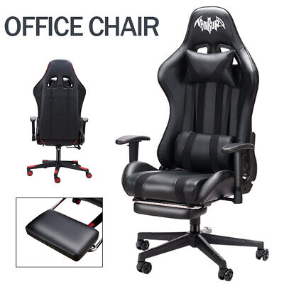 £140.39 • Buy Racing Gaming Chairs Computer Desk Chair Leather Swivel Ergonomic Recliner Seat