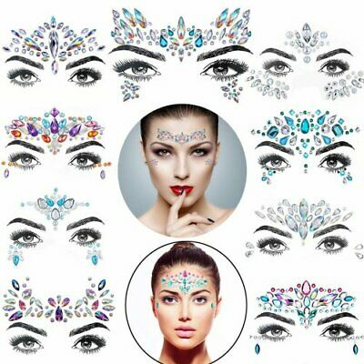 £12.19 • Buy Face Gems Adhesive Glitter Jewel Tattoo Sticker Festival Rave Party Body Make Up