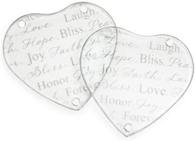 £24.50 • Buy 30 Heart Glass Coasters Wedding Day Table Decor Favours Low Price
