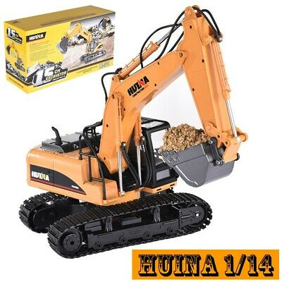 £39.99 • Buy HuiNa Toys 1550 1/14 2.4G 15CH Alloy Excavator Engineering Digger Vehicle RC Car