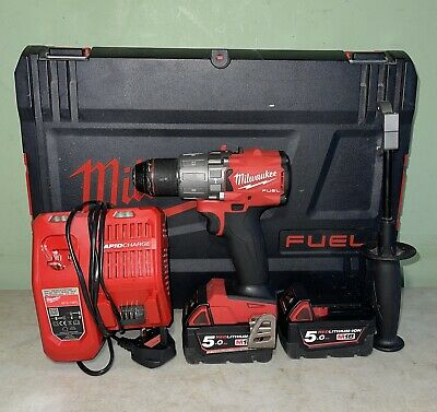 View Details Milwaukee M18FPD2-0 18v Li-ion Fuel Brushless Drill Driver + 2x5ah And Charger • 111.00£