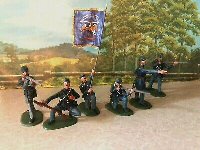 $29.99 • Buy HAND PAINTED Civil War Toy Soldiers In 54 Mm - 20th Maine Regiment (Set 1)