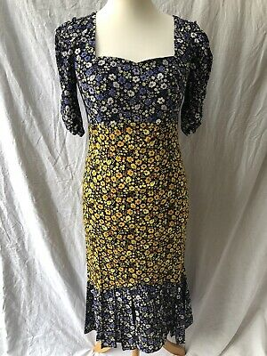 £14.50 • Buy New Summer Dress From V By Very Size 14 Midi Long Length Floral Square Neck