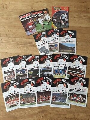 £2 • Buy X17 Manchester United Football Programmes From The 80s In Excellent Condition