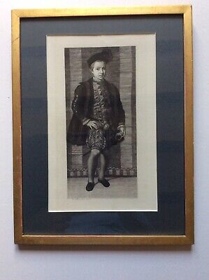 £14.99 • Buy Framed Engraving Of A Boy - Victor Lhuillier After Jacopo Carucci 1877