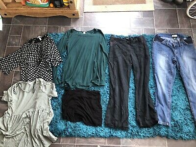 £5.99 • Buy Maternity Size 12 Clothes Bundle Next George H&M Jeans Trousers Tops Outfit
