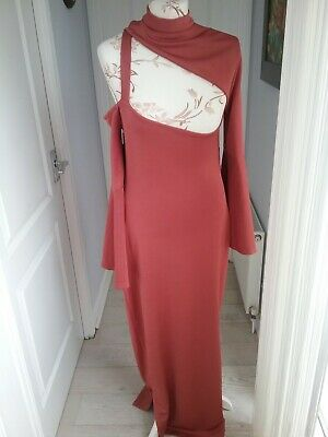 £1.99 • Buy Stunning New With Tags Loaded Terracotta Long Dress Size 10