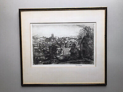 £40 • Buy Marion Rhodes Northern Town Signed Etching