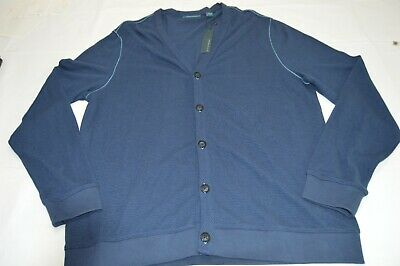 $34.99 • Buy Perry Ellis Oversized  V-neck Button Down Knitted Cardigan Blue Size Large NWT