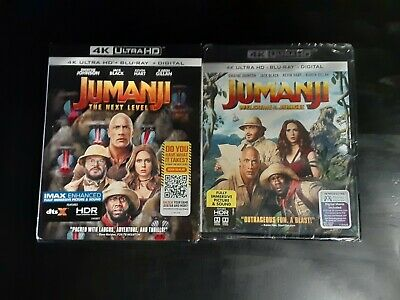AU16.94 • Buy Jumanji The Next Level, Welcome To The Jungle 4k+Blu Ray Lot D4