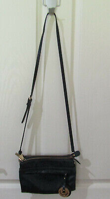 AU80 • Buy Mimco Cross Body Leather Bag Black Gold Hardware - Pre Owned