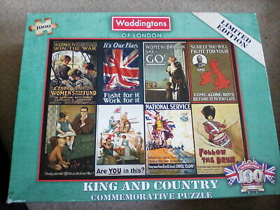 £3.99 • Buy Waddingtons King And Country 1000 Piece Jigsaw 1st World War See Description