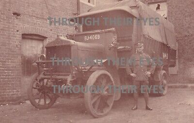 £35 • Buy Original WW1 Photo A.E.C  British Army Truck Lorry & Soldier WWI Photograph