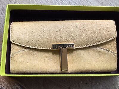 £8.99 • Buy Ted Baker Purse Yellow Pony Skin 😩