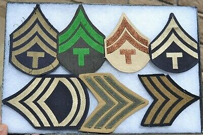 $13.06 • Buy Us Uniform Military Unit Cloth Patch Lot Of 6 Patches Insignia Chevrons
