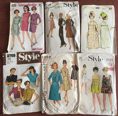 £4.50 • Buy 6 X Ladies Vintage Retro Sewing Patterns By Style,  Simplicity, Le-Roy