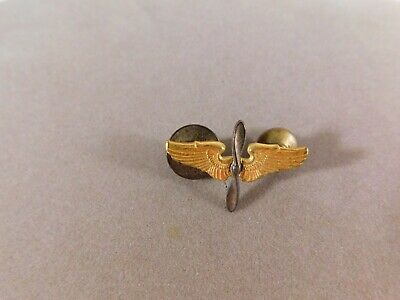 $19.99 • Buy Vintage US Army Military WWII Pilot 1  Across Cadet Wings & Propeller Lapel Pin