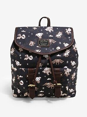 £145.49 • Buy VERY RARE Loungefly Harry Potter Magical Creatures Chibi Rucksack Backpack AOP