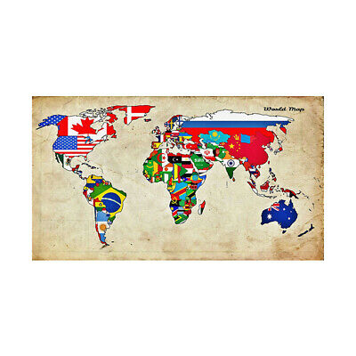 AU12.92 • Buy VINTAGE WORLD MAP LARGE POSTER WALL DECOR SIZE 59*39in