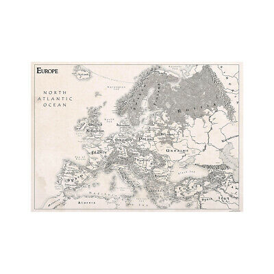 AU12.92 • Buy VINTAGE EUROPE MAP LARGE POSTER PRINT SIZE 59*39in