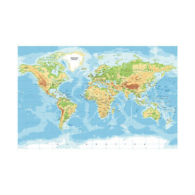AU12.92 • Buy WORLD MAP POSTER HOME WALL DECOR SIZE 59*39in