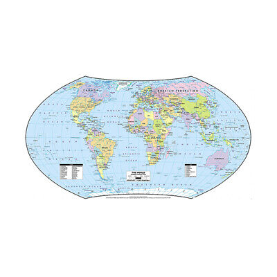 AU12.92 • Buy MAP OF THE WORLD GIANT POSTER PRINT SIZE 59*39in